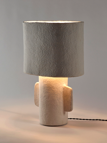 earth lamp to put as primitive and basic decoration in an eclectic aspect