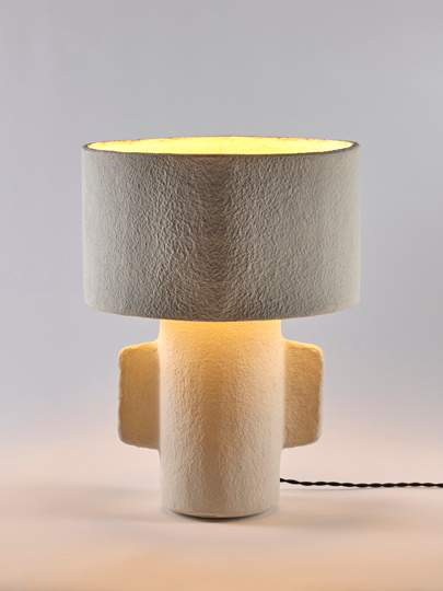 White table lamp desk serax earth collection to light and decorate home