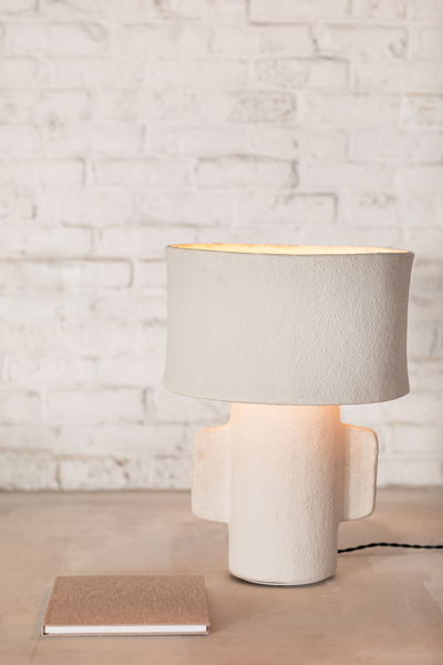 Paper mache terra lamp serax table lamp for reading and lighting room and bedroom