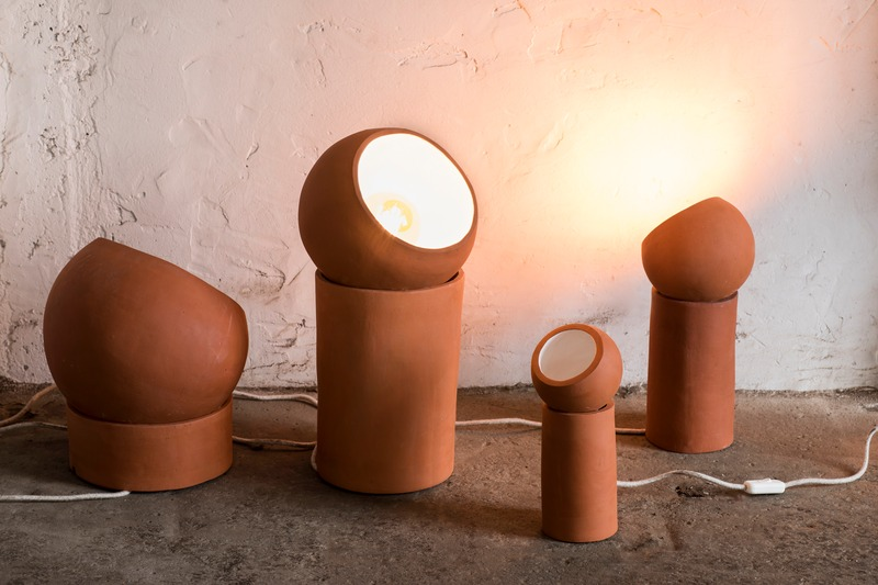 Floor lamp pottery collection terra serax clay color